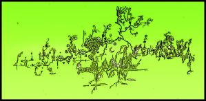 TRIP NEW UTOPIA acid green by ACIDdrawings
