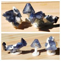Benitoite Crystals - California by BlueLiquorice