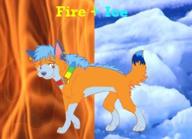 Fire + Ice by white-wolf27