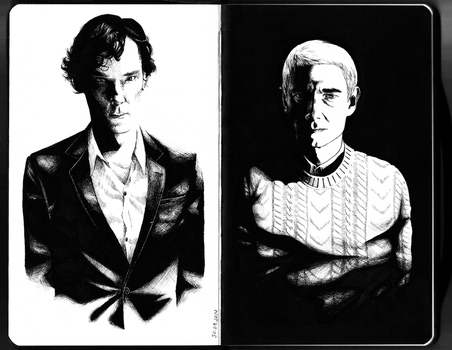 Sherlock and John by Aruthe