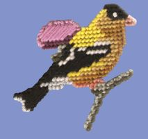 Goldfinch needlepoint by twapa