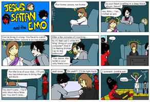 Jesus, Satan and the Emo pg 2 by JSandE