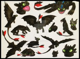 Toothless Sketches by Happea