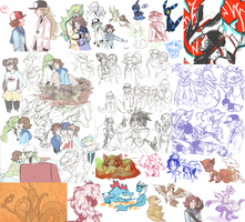 Pokemon Sketchdump II by RileyKitty