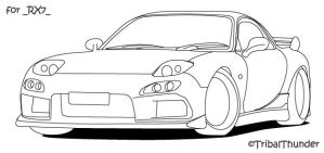 Mazda RX7 Front by tribalthunder