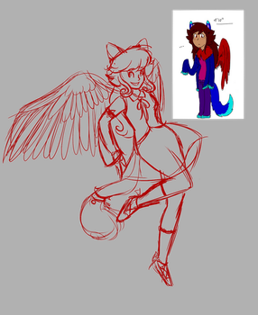 Magical Girl Kitty (WIP) by CrazyChrissie101