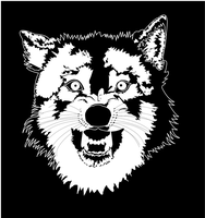 Wolf drawn with Inkscape. by Lozza79
