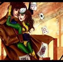 Rogue and Gambit by AStudyInScarlet