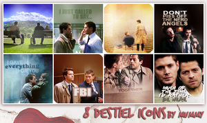 8 Destiel Icons :1: by mummy16