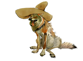 Mexican wolf by Lobata-chan
