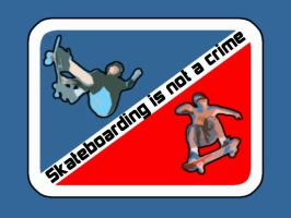 Skateboarding is not a crime by wessito