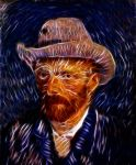 Van Gogh self-photoshop by bbbeto
