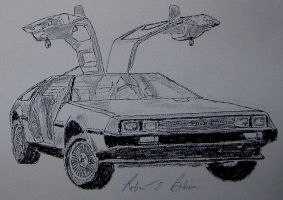 DeLorean Sketch 10 by DeloreanREB