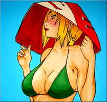 Sun Bathing Tsunade by iareawesomeness