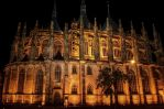 Chram sv. Barbory at night by pingallery