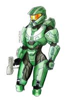 Master Chief  female - Jane 117 by SpartanB214