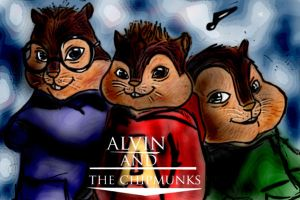Alvin and the chipmunks by EarthsSaviorSonGoku