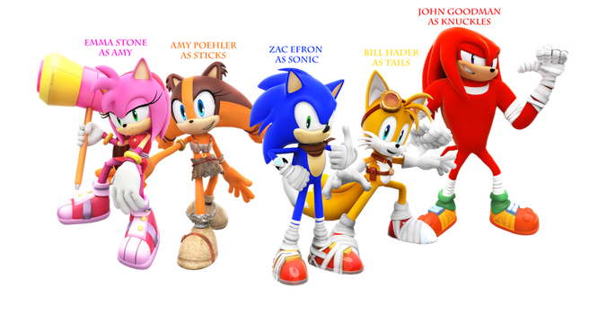 Sonic Boom Characters Render with Voice Cast by SuperRatchetLimited