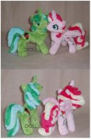 Tiger Lily and Jolly Roger Plushies by dot-DOLL