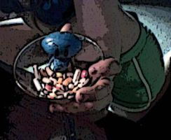 pills. Tag reads 'Eat Me'... by Ften