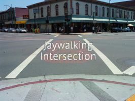 Jaywalking Intersection by HuoXingC