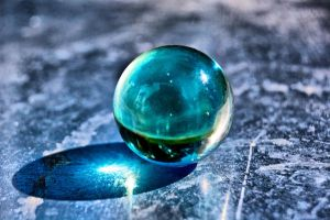 glass ball on metal by speed-demon
