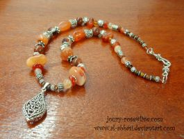 Carnelian Necklace by Al-Abbasi