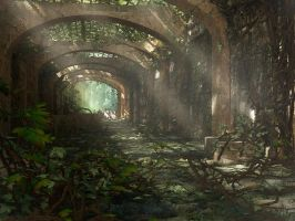 Ruin in the Forest by Fdjohan19