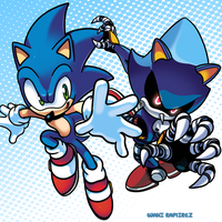 Sonic vs Metal Sonic by WaniRamirez