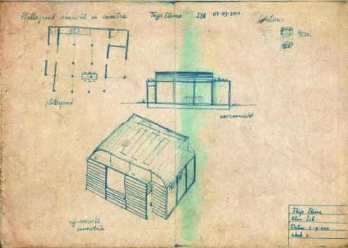 Architectural drawing by rolandtelema