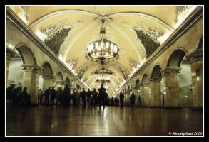 Moscow subway, Russia by Hiddenplanet