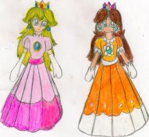 Classic Peach and Daisy by YuiHarunaShinozaki
