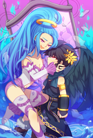 Dark Pit and Pandora by Wusagi2