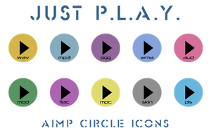 Just P.L.A.Y. AIMP (audio format icons) by Rammist
