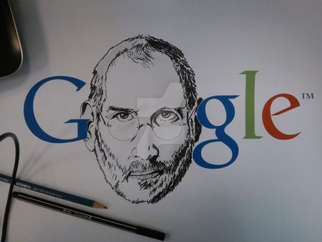 Steve Jobs impossible doodle by killerpollo23