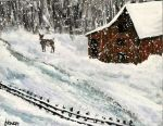 Winter Barn by ThisArtToBeYours