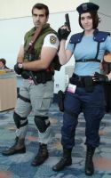 Chris Redfield and Jill Valentine of Resident Evil by trivto