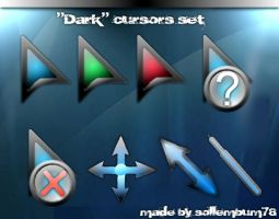 """Dark"" glass cursors by sollembum78"