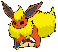 Flareon and Cyndaquil commish by pokefan444