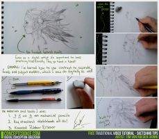 Traditional Tutorial: Sketching Tips by ConceptCookie