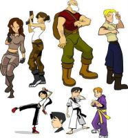 Dropout Character Designs by bluekronos