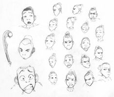 Sketches 19 - Sokka 1 by Azizla