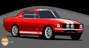 Ford Mustang Ms Paint by dr-phoenix