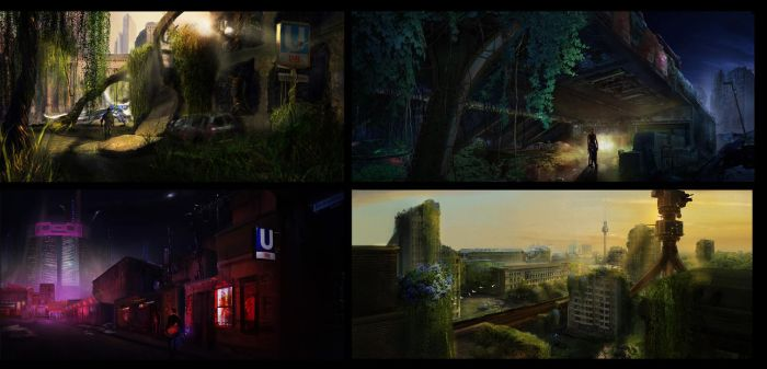 Collection of Berlin inspired environment concepts by szander
