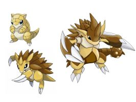 pokemon fake evolution - Sandslash by badafra