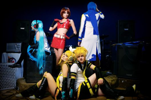 Vocaloid_all together by WanderingKai