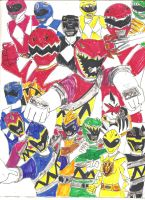 MMPR - Dino Thunder - Dino Charge by LavenderRanger