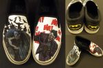 Custom Batman Shoes by swiftlogix