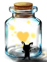 Heart In a Bottle by NikiMuffin