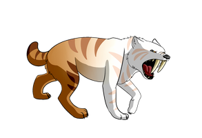 Kbesh the arctic sabre-tooth wolf by tiggercat12